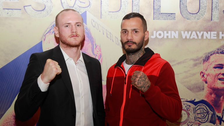 George Groves (L) will take on Andrea Di Luisa in January