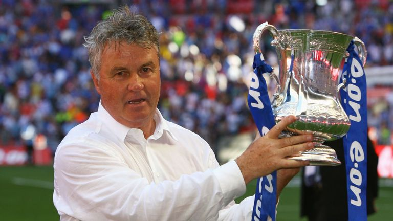 Guus Hiddink won the FA Cup during his first spell at Chelsea