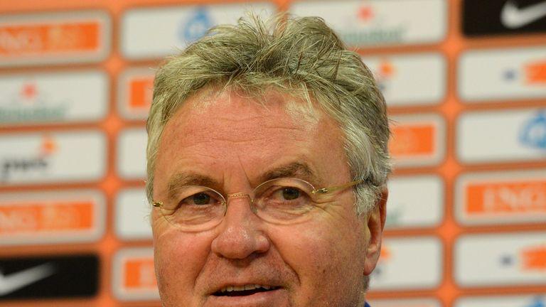 Dutch national soccer team head coach Guus Hiddink in 2014