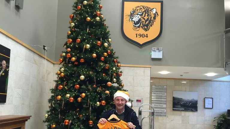 Hull presented me some gifts under the Christmas tree at the KC.
