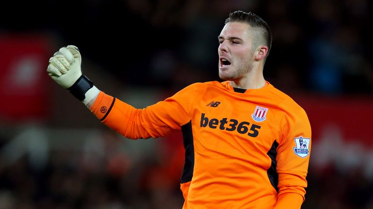 Jack Butland was hardly tested during Stoke's 2-0 win over Sheffield Wednesday