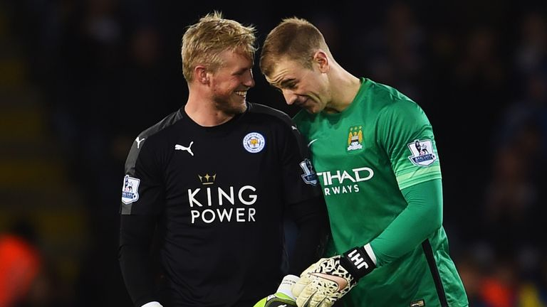 Joe Hart  and Kasper Schmeichel