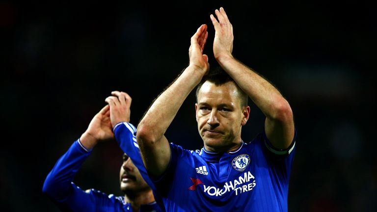 MANCHESTER, ENGLAND - DECEMBER 28:  John Terry of Chelsea and Pedro of Chelsea applaud the fans after the Barclays Premier League match between Manchester