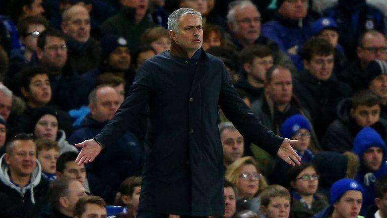 Chelsea manager Jose Mourinho looks baffled