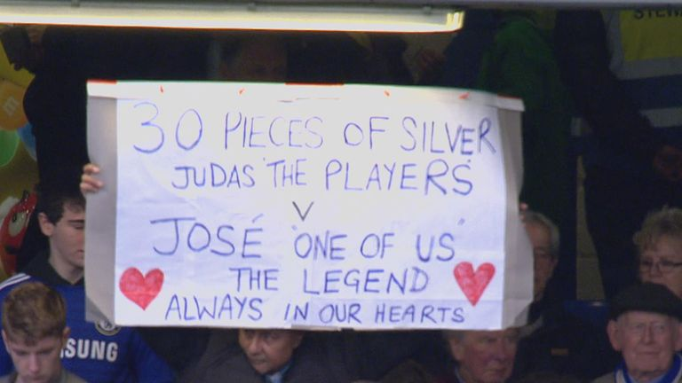 Chelsea fans take aim at players