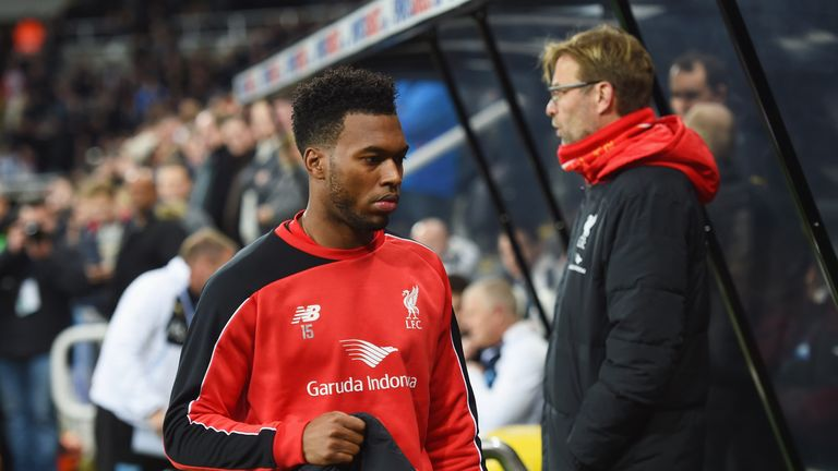 Daniel Sturridge has suffered a number of injury problems this season at Liverpool