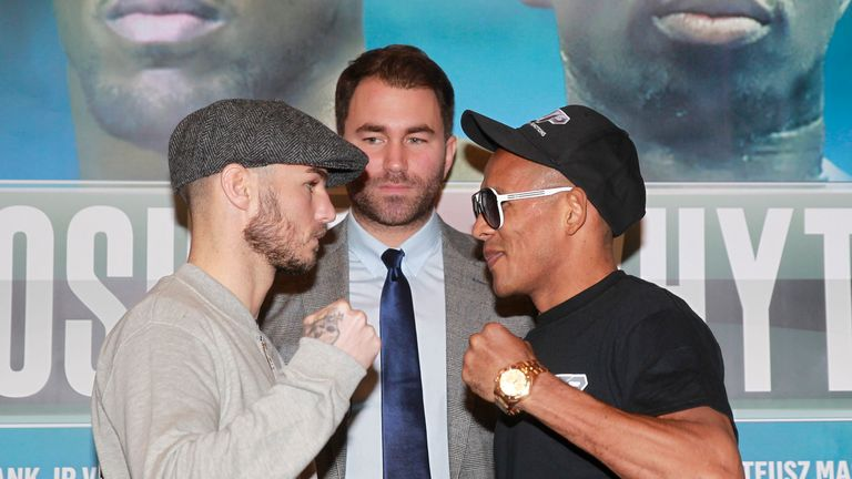 Kevin Mitchell (left) faces the dangerous Ismael Barroso