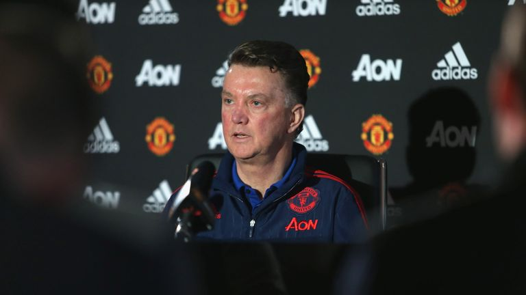 Van Gaal demanded an apology at a Manchester United press conference