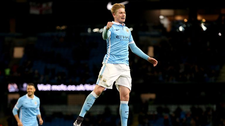 Manchester City's Kevin de Bruyne celebrates