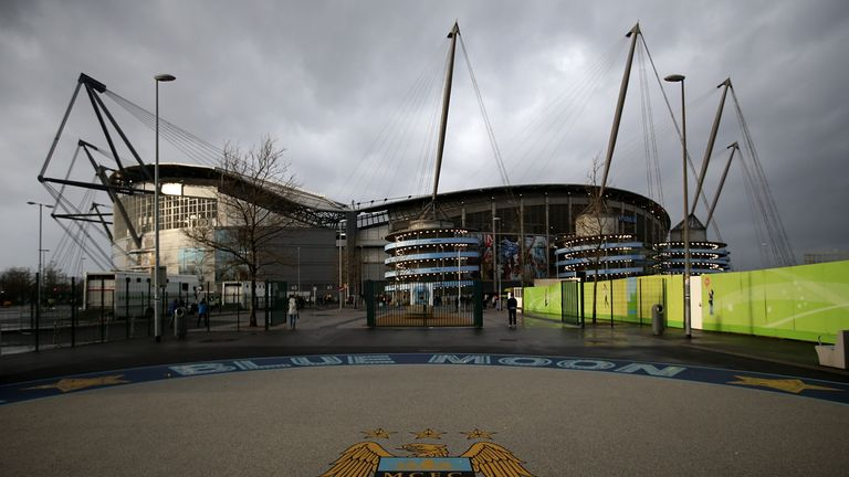 General view of Manchester City's Etihad Stadium ahead of their match against Sunderland