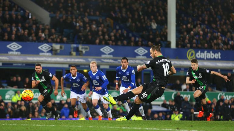 Stoke ran out 4-3 winners in the corresponding fixture at Goodison Park