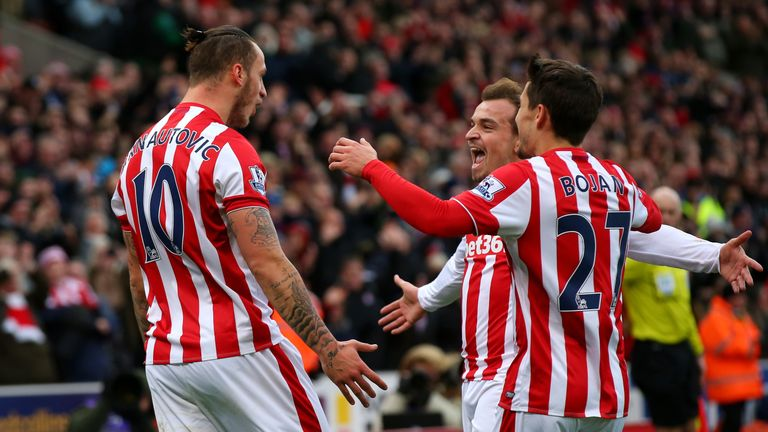 The likes of Arnautovic, Shaqiri and Bojan are treating Stoke fans to some thrilling football