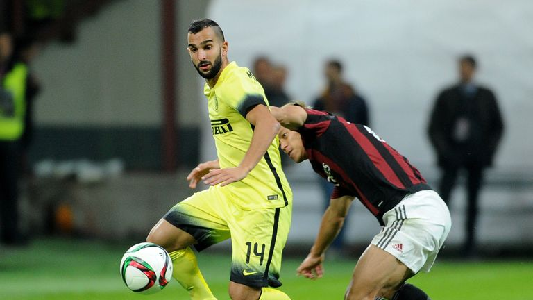 Martin Montoya could leave Inter Milan in January