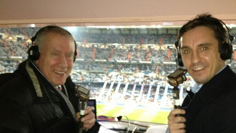 Martin Tyler and Gary Neville in the commentary box together