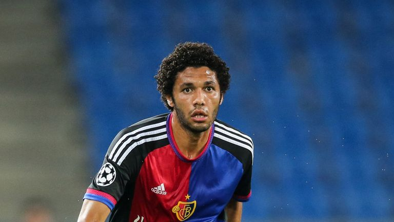 Basel midfielder Mohamed Elneny has been linked with a January move to Arsenal