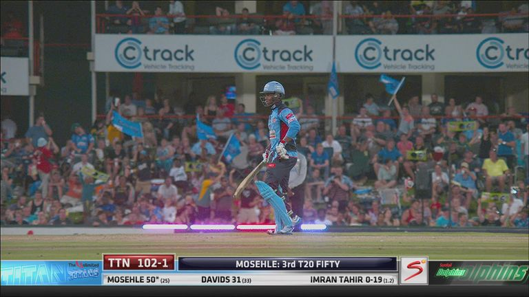 Mosehle reached his half-century with another boundary