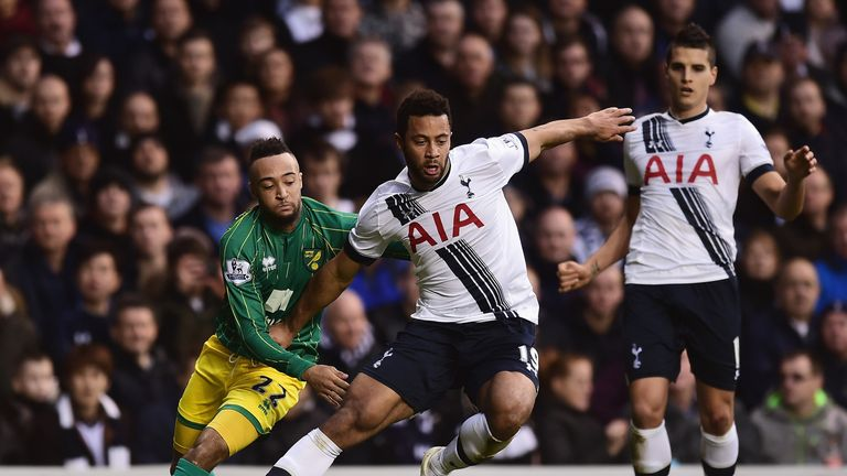 Mousa Dembele was replaced by Nacer Chadli on 86 minutes after picking up a knock against Norwich