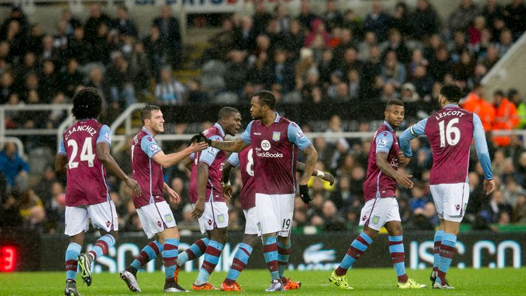 Ayew earned Villa a point at St James' Park