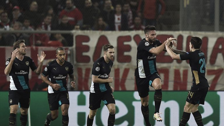 Arsenal progressed with a fine 3-0 win over Olympiakos on Wednesday