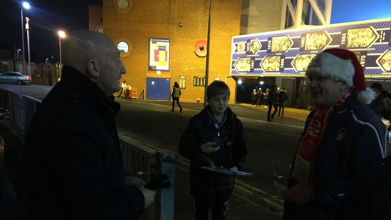 The fans in and around the ground have been great - spreading Xmas cheer.