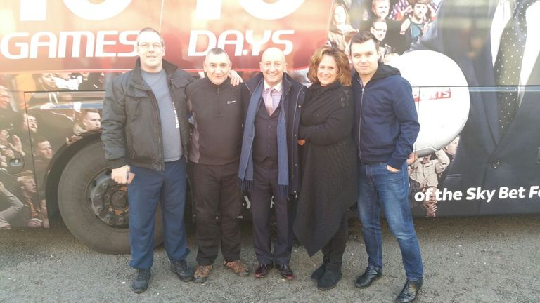 Larry, Mick, Ollie, Kim and Lewis - the 10 in 10 dream team