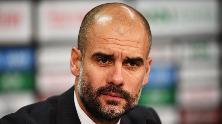 Pep Guardiola speaks after Bayern Munich's 2-1 win over Hannover