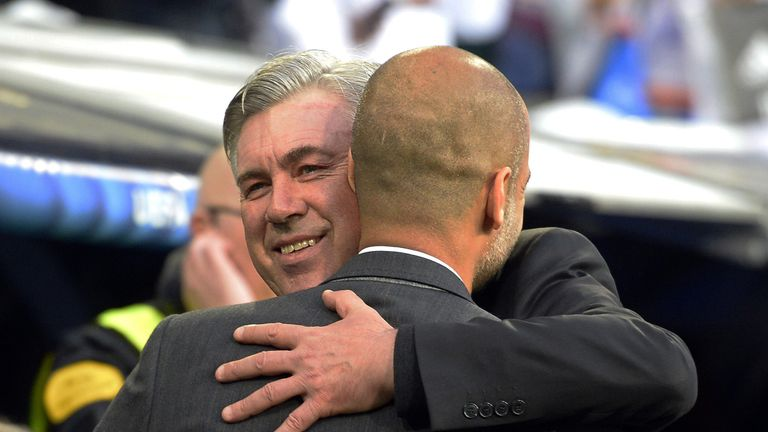 Pep Guardiola Carlo Ancelotti