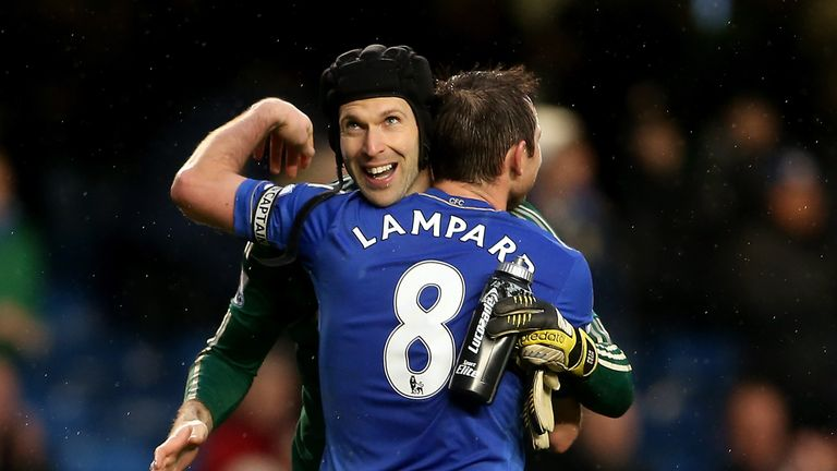 Lampard played with Petr Cech at Chelsea
