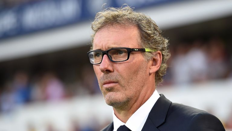 Paris Saint-Germain head coach Laurent Blanc
