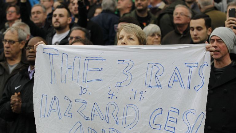 Hazard, Fabregas and Costa singled out by one fan