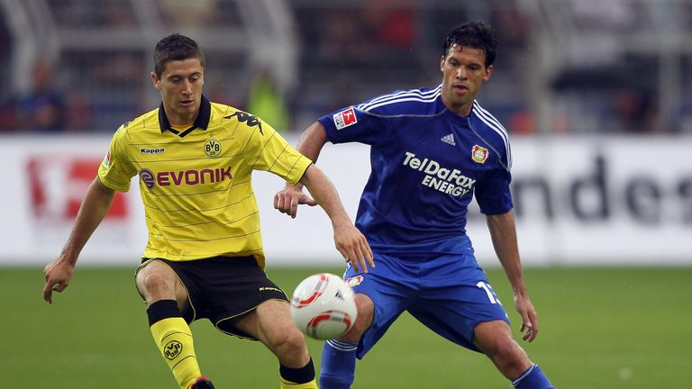 Robert Lewandowski (L) and Michael Ballack have both joined clubs on Bosmans