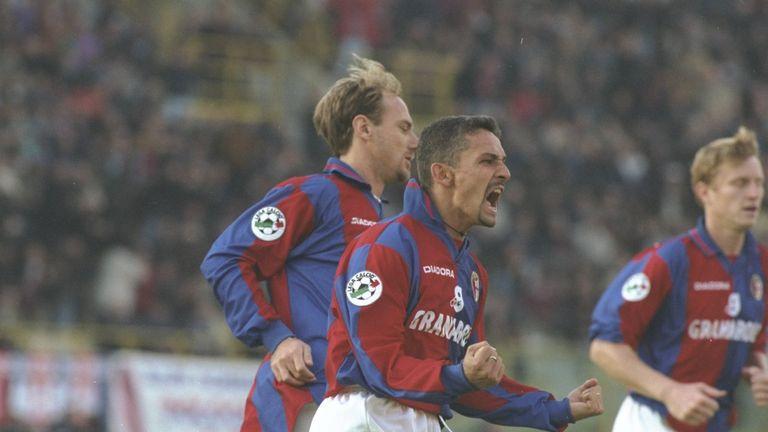 Roberto Baggio of Bologna