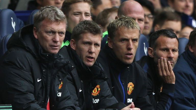 Ryan Giggs was part of David Moyes' coaching staff at Manchester United