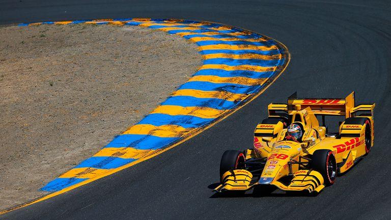 Ryan Hunter-Reay in IndyCar action