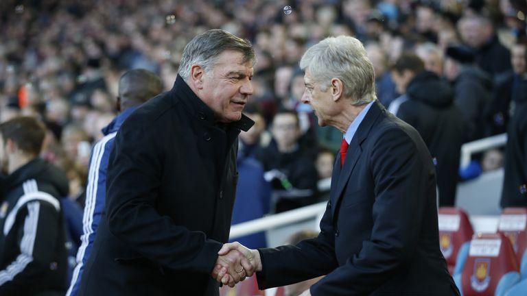 Sam Allardyce says his days of feuding with Arsene Wenger are over