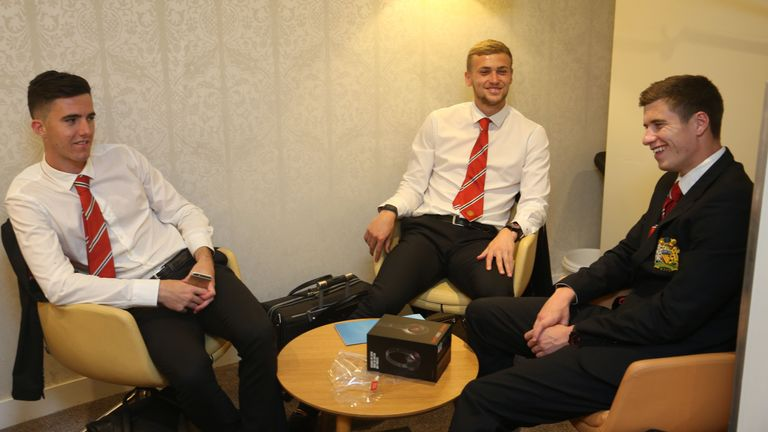 Goss on the club's pre-season tour of the USA with James Wilson and Paddy McNair