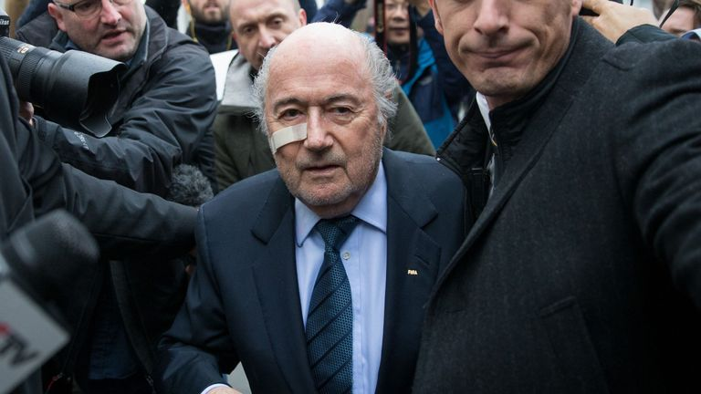 Sepp Blatter's appeal is due to be heard on Tuesday