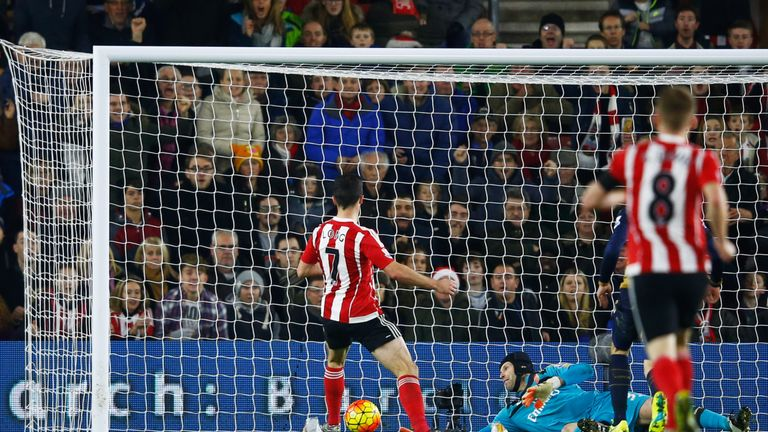 Shane Long taps in Southampton's second goal of the game