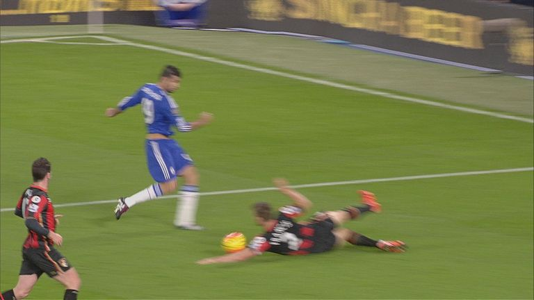 The ball appeared to hit the trailing arm of Simon Francis