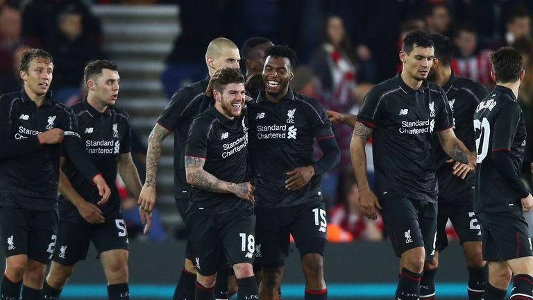 Alberto Moreno, Daniel Sturridge and Liverpool are all smiles