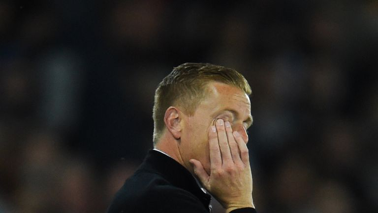 Garry Monk is under pressure at Swansea after eight defeats in 12 in all competitions