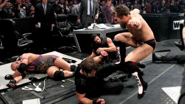 The Shield made their in-ring debut in a TLC encounter