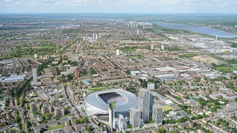 The club believe their new stadium will increase the value of land and property in the wider Tottenham area
