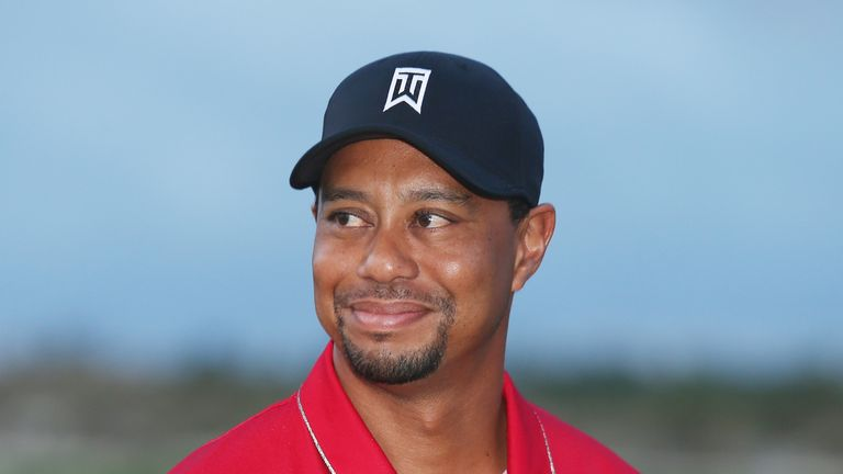 Woods was at the Hero World Challenge as tournament host