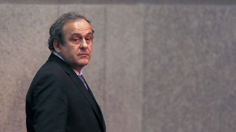 The SFA withdrew support UEFA president Michel Platini following his suspension by FIFA