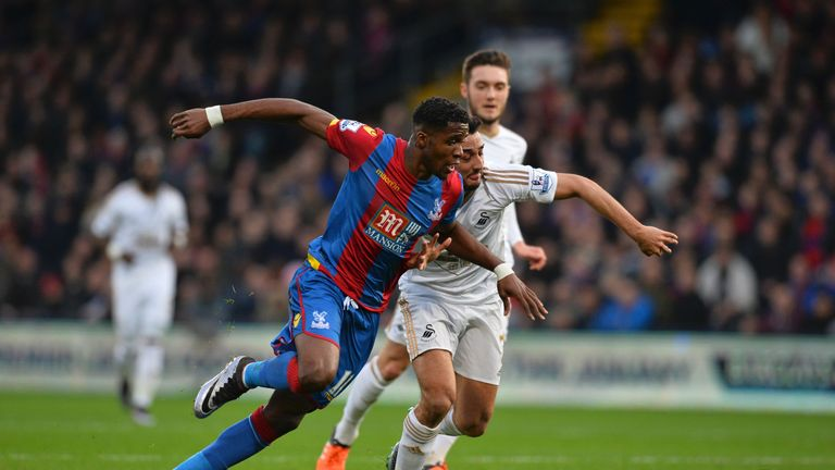 Wilfried Zaha was a threat for Crystal Palace all afternoon