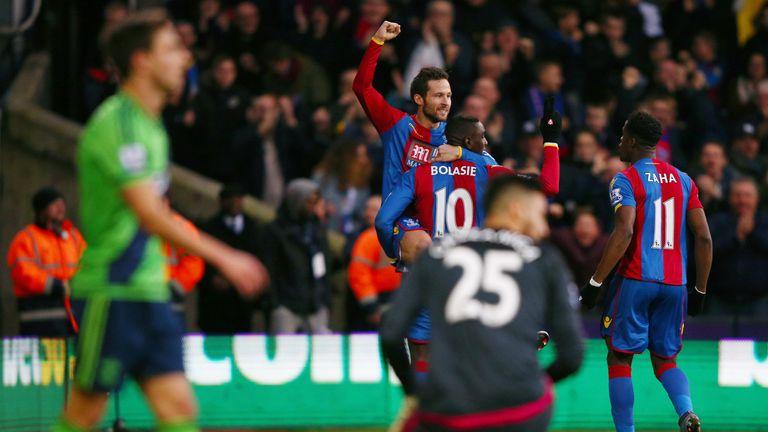 Yohan Cabaye of Crystal Palace celebrates