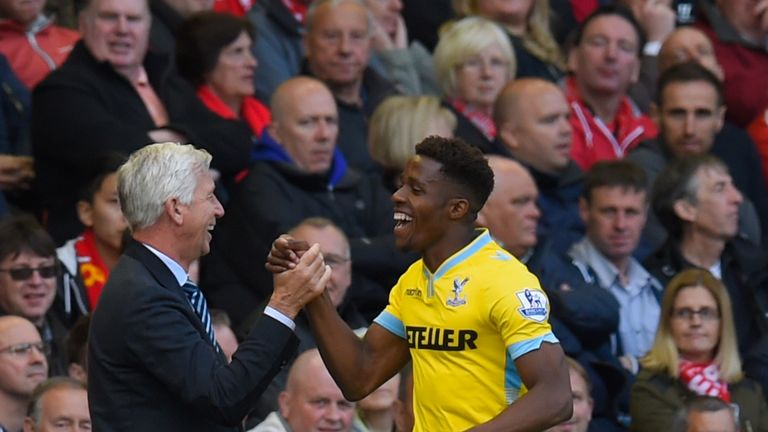 Alan Pardew believes it is a big season for Palace's winger Wilfried Zaha