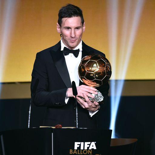 Messi wins Ballon d'Or