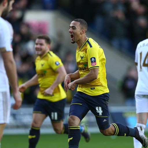Oxford's Roofe topples Swansea